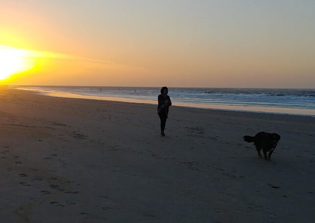 Astrid op het strand